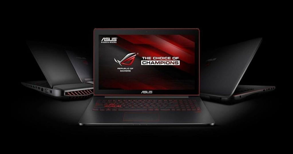 ASUS ROG GL551JW-DS74 gaming laptop view