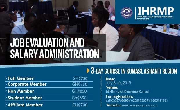 3-Day Training on Job Evaluation and Salary Administration in Kumasi