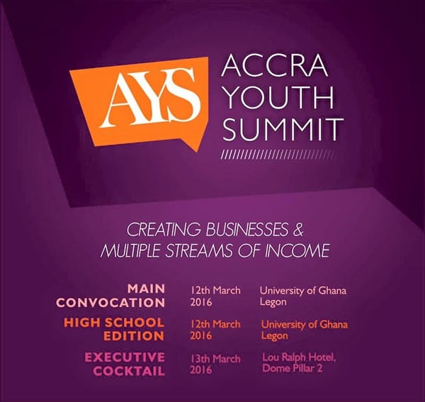 Ghana's No.1 Young Speaker to Host the Accra Youth Summit