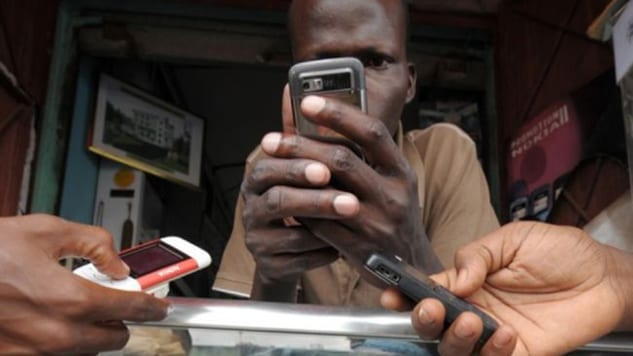 Less than 50% of the population of Africa have access to mobile services