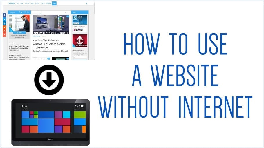 How to download a website and access it offline