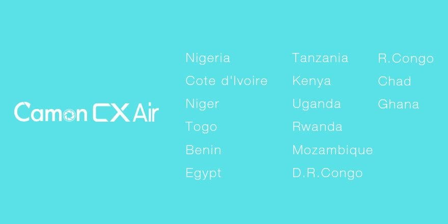 camon cx air sale locations