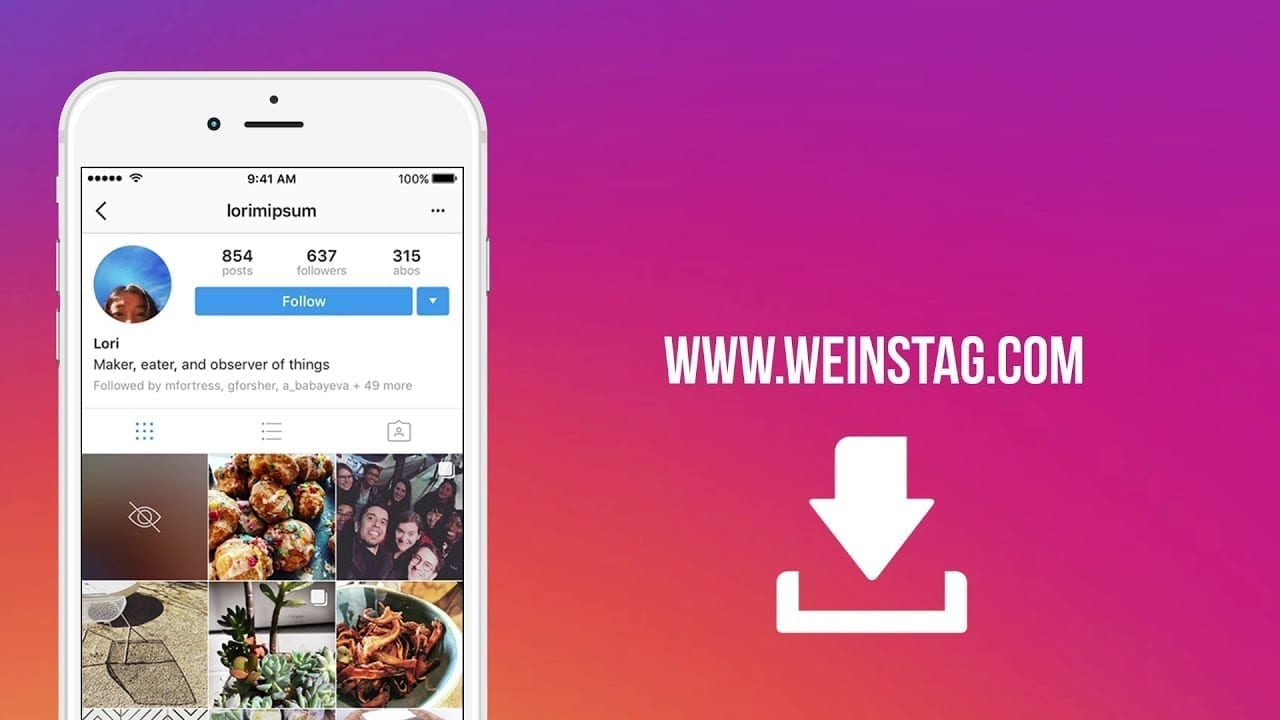 Download Those Videos And Images You Love From Instagram: Use Weinstag