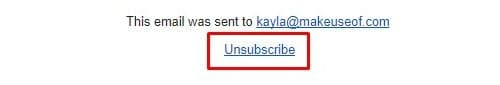 gmail spam tip unsubscribe