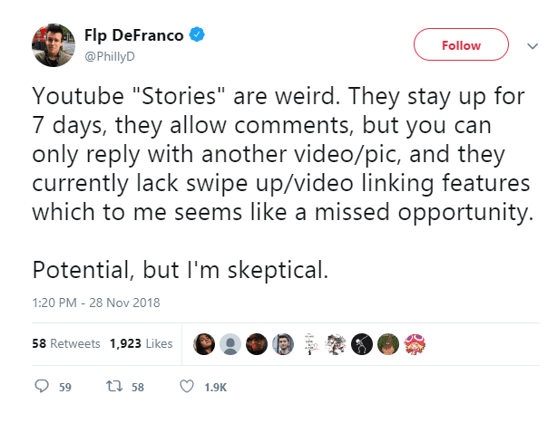 "YouTubers with 10,000 subscribers to get ""Stories"" feature"