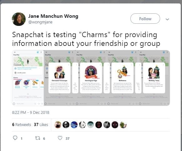 Charms. Snapchat is bringing new features: portrait mode, charms, batch capture