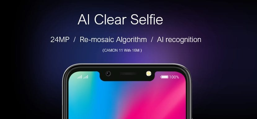 TECNO CAMON 11's AI camera beats industrial average of 108 with 240 facial points