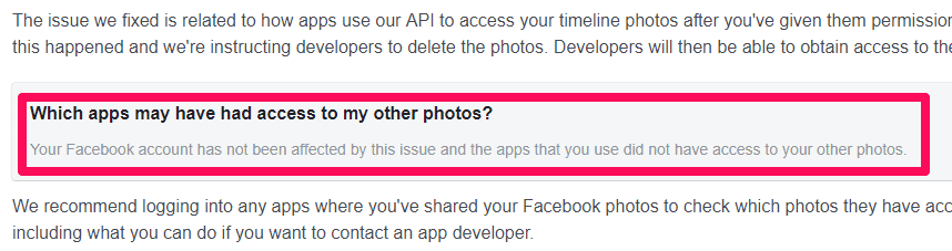 Here's how to check if you were affected by the Facebook photo bug