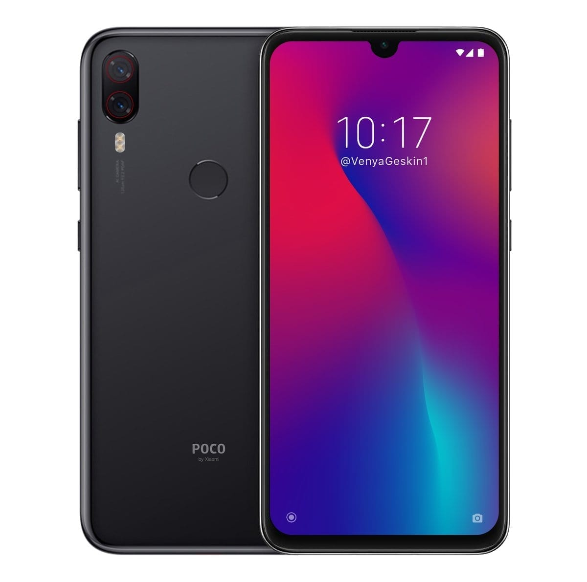 The concept image of the Xiaomi Pocophone F2 has been leaked.The smartphone is believed to have a water-drop notch