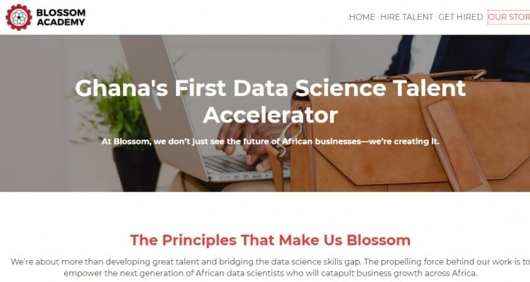 Blossom Academy is a Ghanaian startup training tertiary graduates from several West Africa countries to become better data scientists
