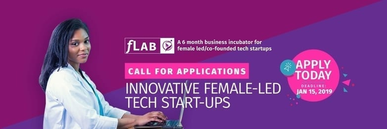 fLab Accelerator: a six-month programme for tech start-ups led by females