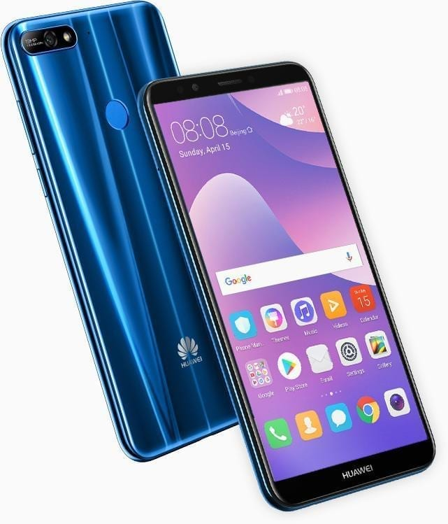 Huawei Y7 Prime 2018....list and specs of prominent phones Huawei released the previous year, 2018 - alongs side with their prices