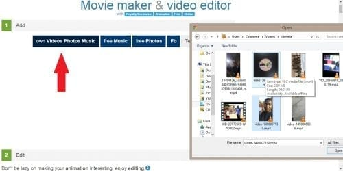 uploading a video; How to edit videos online using Movie Maker Online...