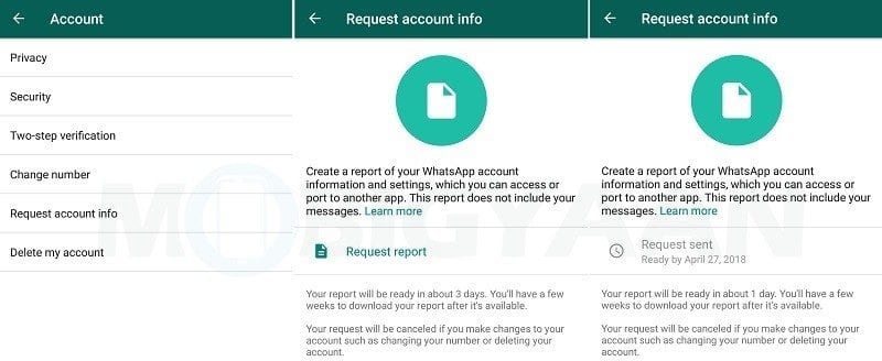 Request Your Account Information