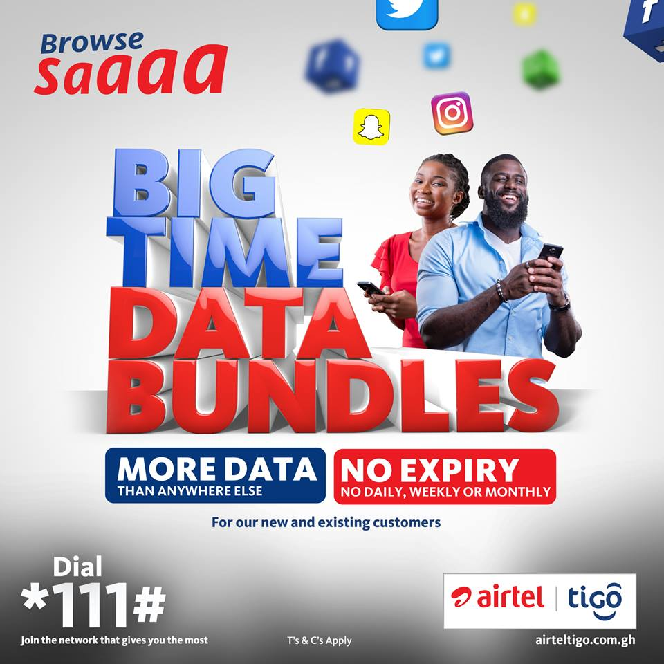 AirtelTigo has data bundles that never expire - Big Time Data Bundle