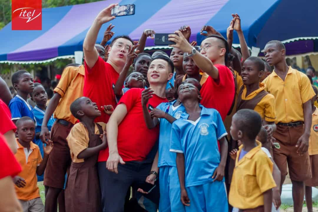 itel Mobile Ghana celebrates children's day with children in Nsawan