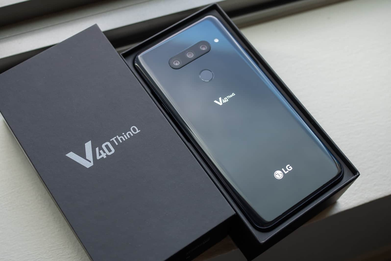 LG V40 Android 10 eligible