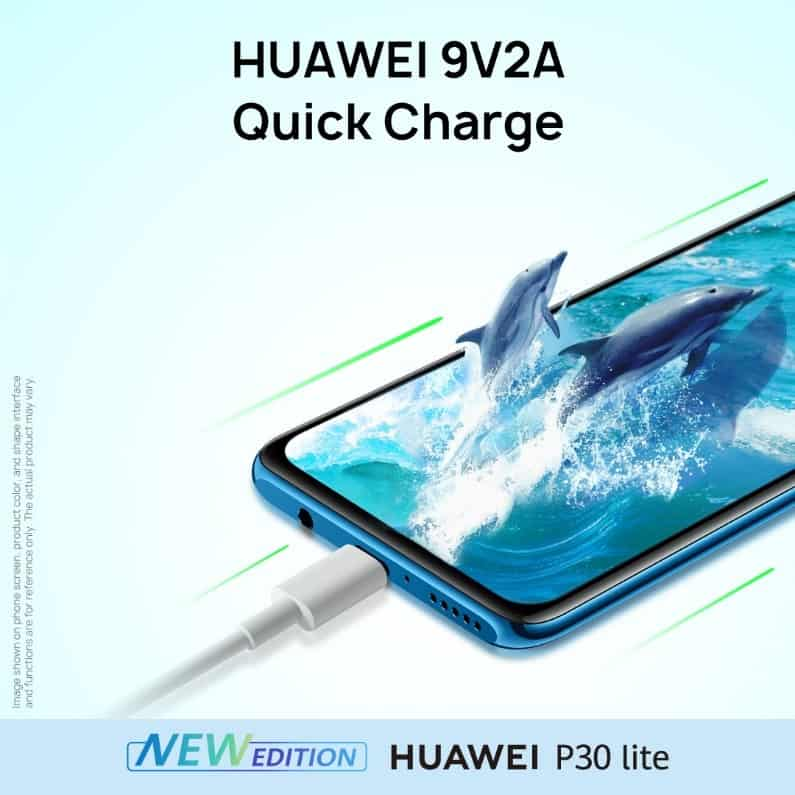 HUAWEI P30 lite 48MP edition quick charge