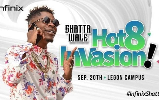 Infinix Hot 8 Invasion with Shatta Wale and others tomorrow