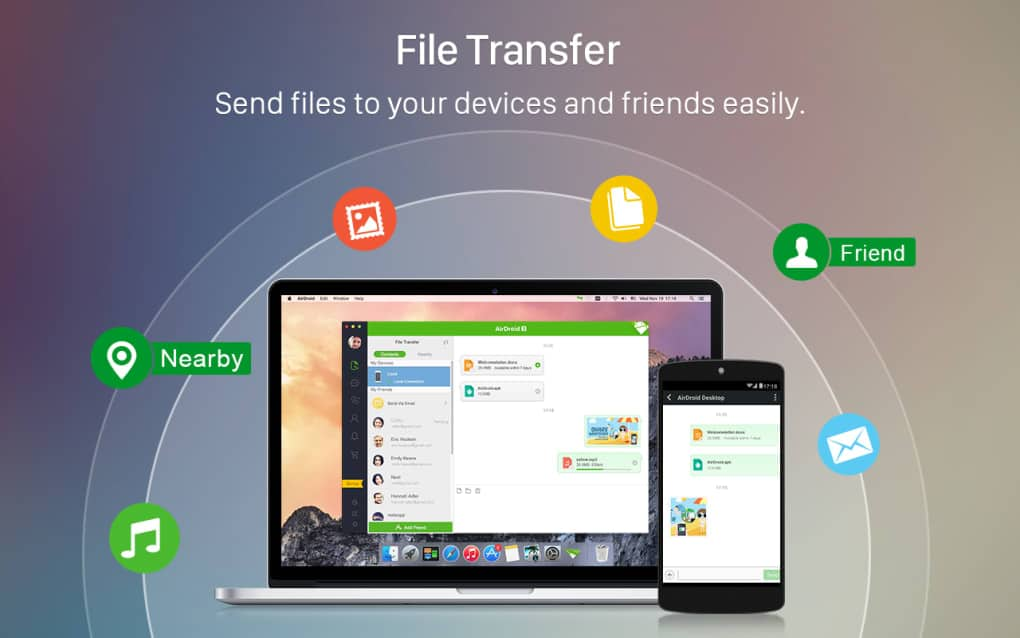 AirDroid - Best file sharing apps for Android