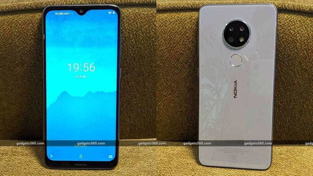 Nokia 6.2 screen and back