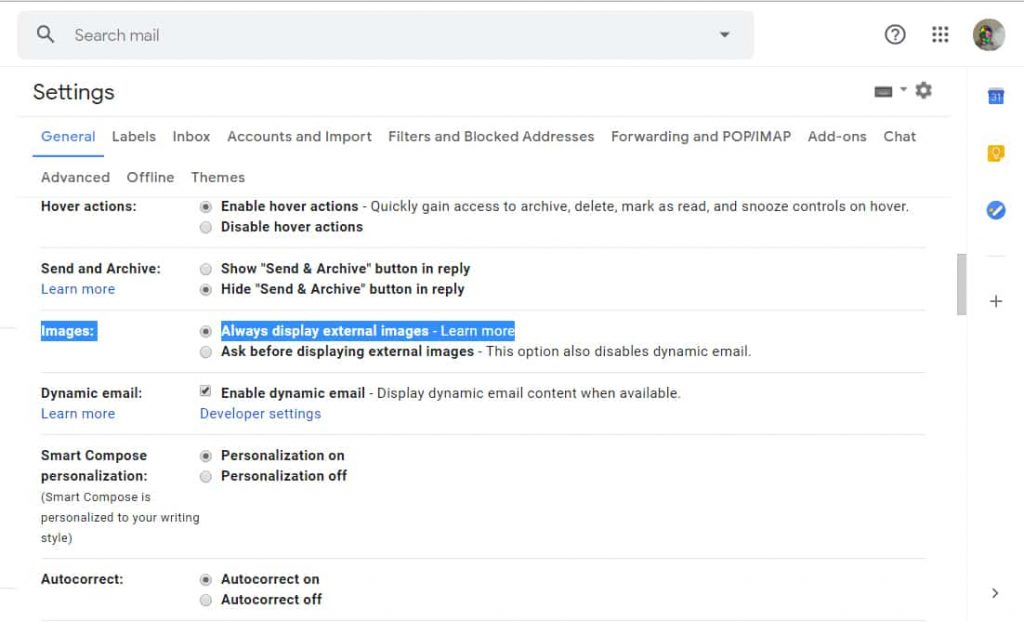 prevent email trackers on gmail