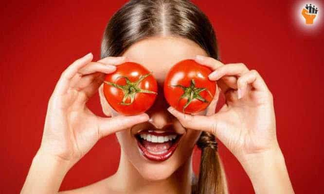 Tomato helps your skin