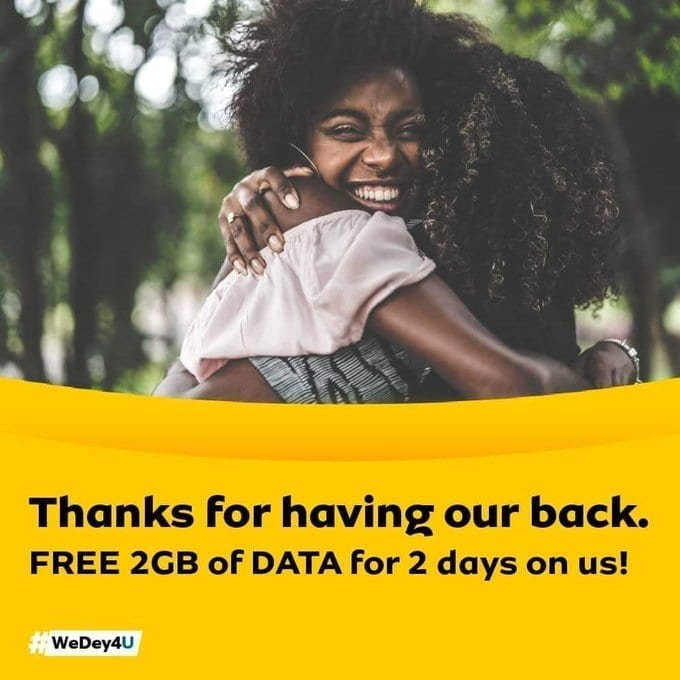 MTN Ghana is giving free 2GB data today