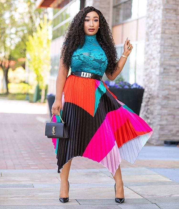 rock pleated skirts in 2020