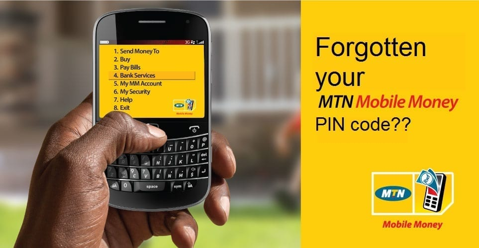 how to reset mtn mobile money pin