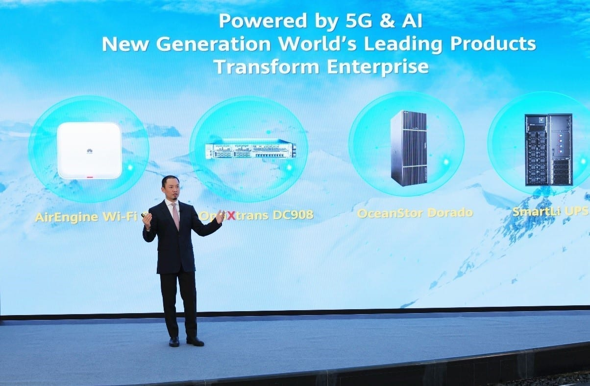 Huawei Launches Four Star Products for Enterprise Market powered by 5G and AI