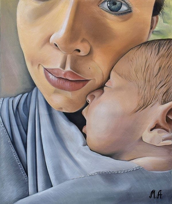 Personalized gifts for new parents: custom portraits