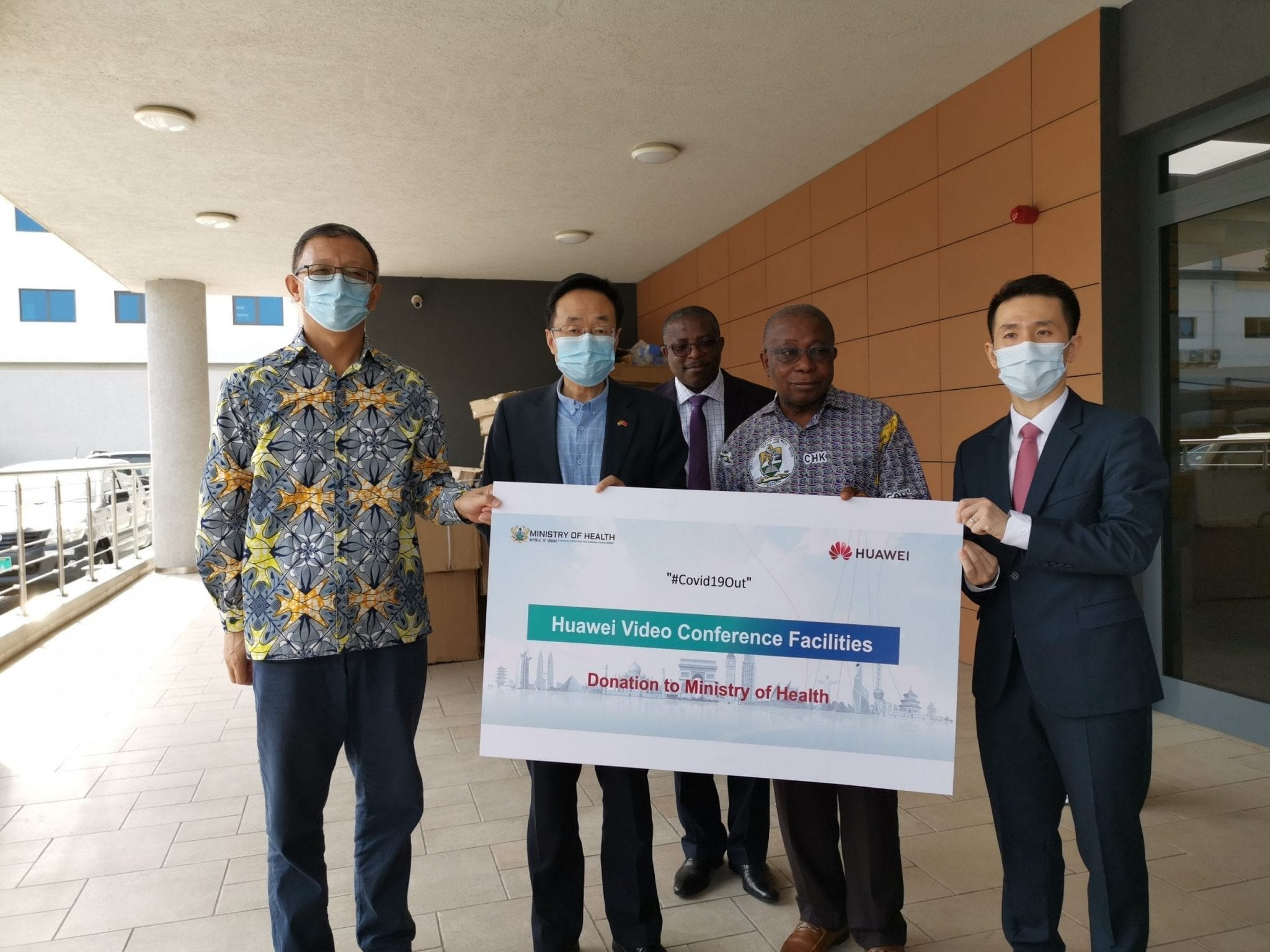 Huawei supports Ghana's fight against COVID-19