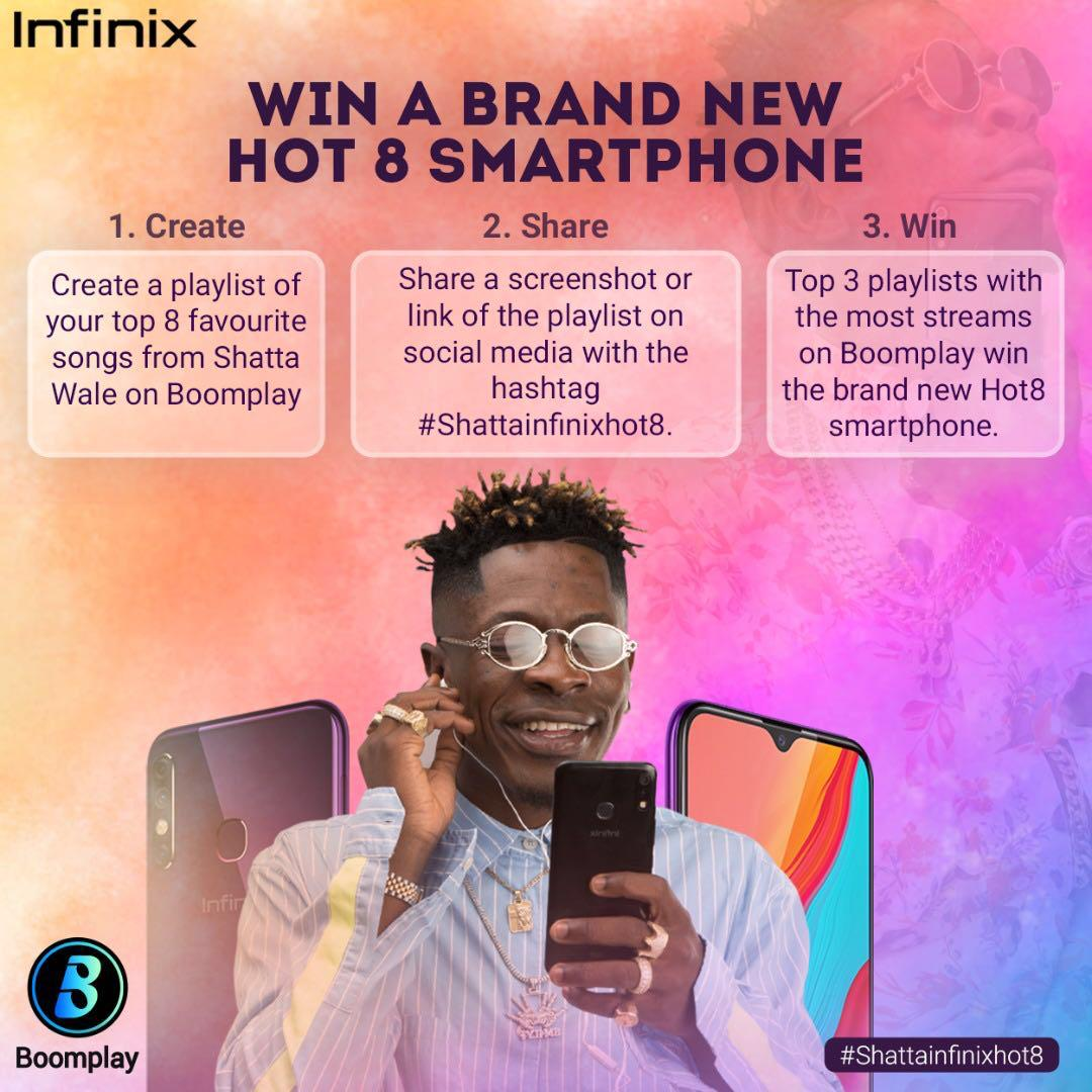 Shatta Wale to give Infinix Hot 8 smartphones to fans