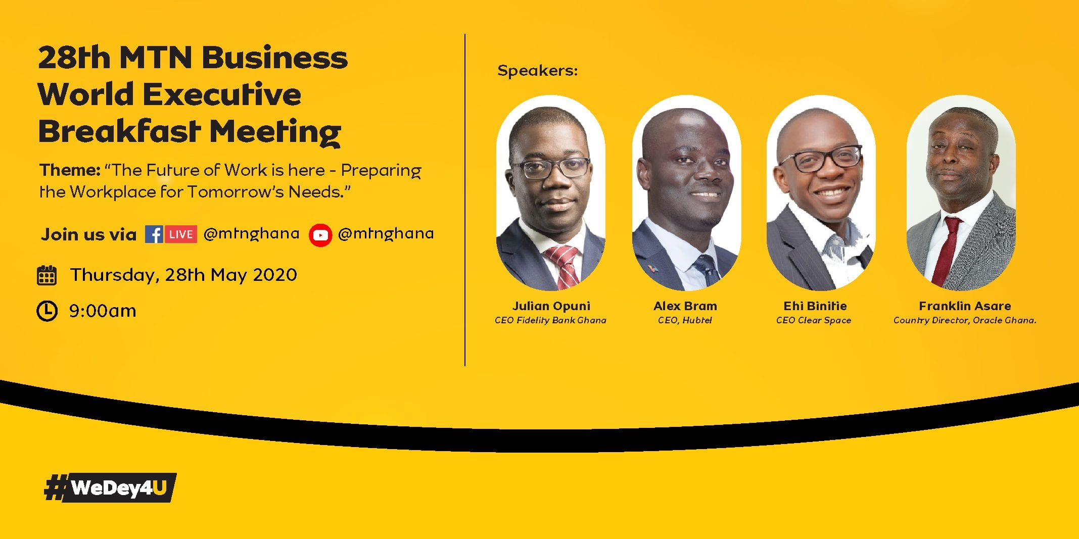 MTN Business World Executive Breakfast Meeting goes exclusively virtual to discuss the future of work