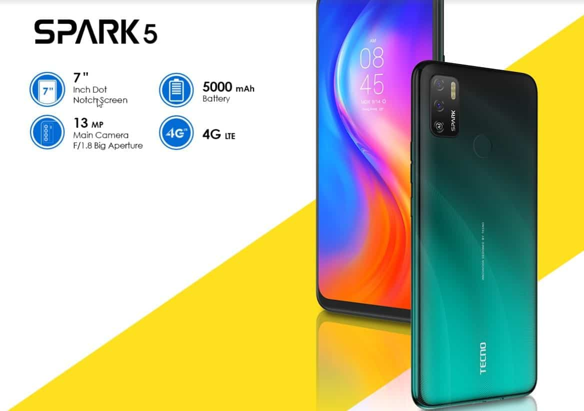 TECNO Spark 5 Air: Full phone specifications, price and more