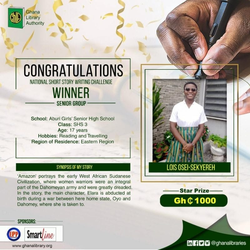 Ghana Library Authority awards 2020 winners of the National Short Story Writing Challenge