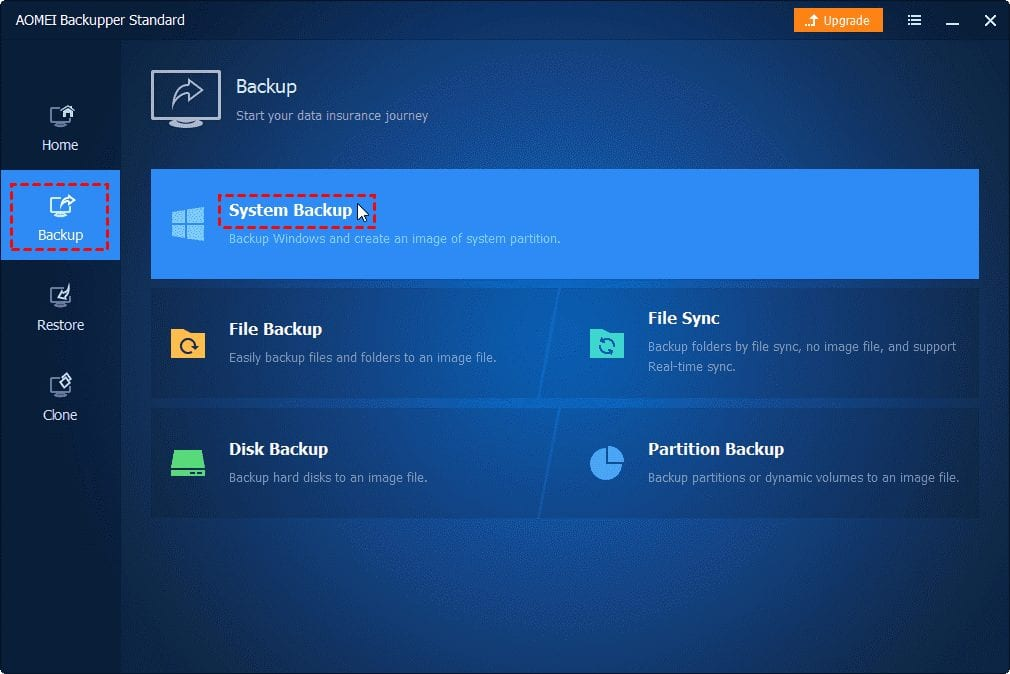 Quick guide to backup Windows 10 to a network drive