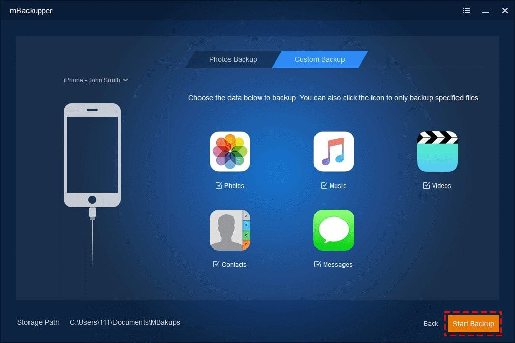How to backup iPhone data with ease