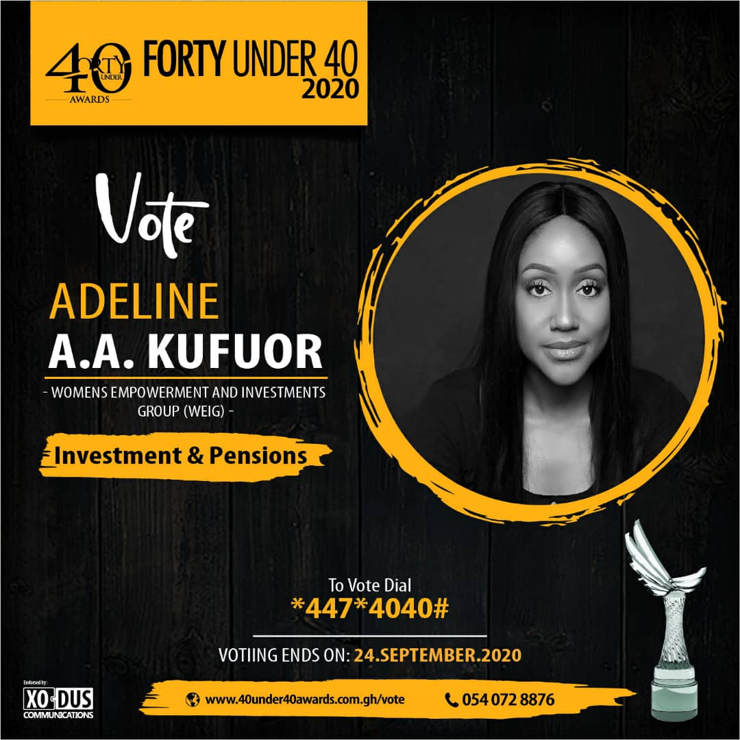 Adeline A.A. Kufuor bags 40 under 40 awards
