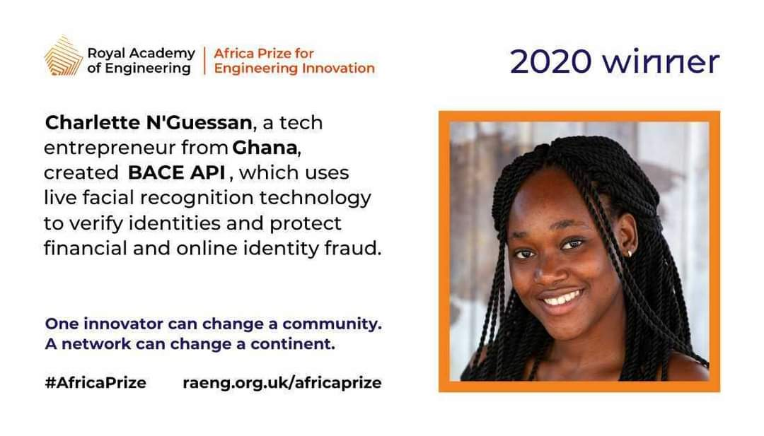 Cote d'Ivoire's Charlette N'Guessan wins the Africa Prize for Engineering Innovation Award