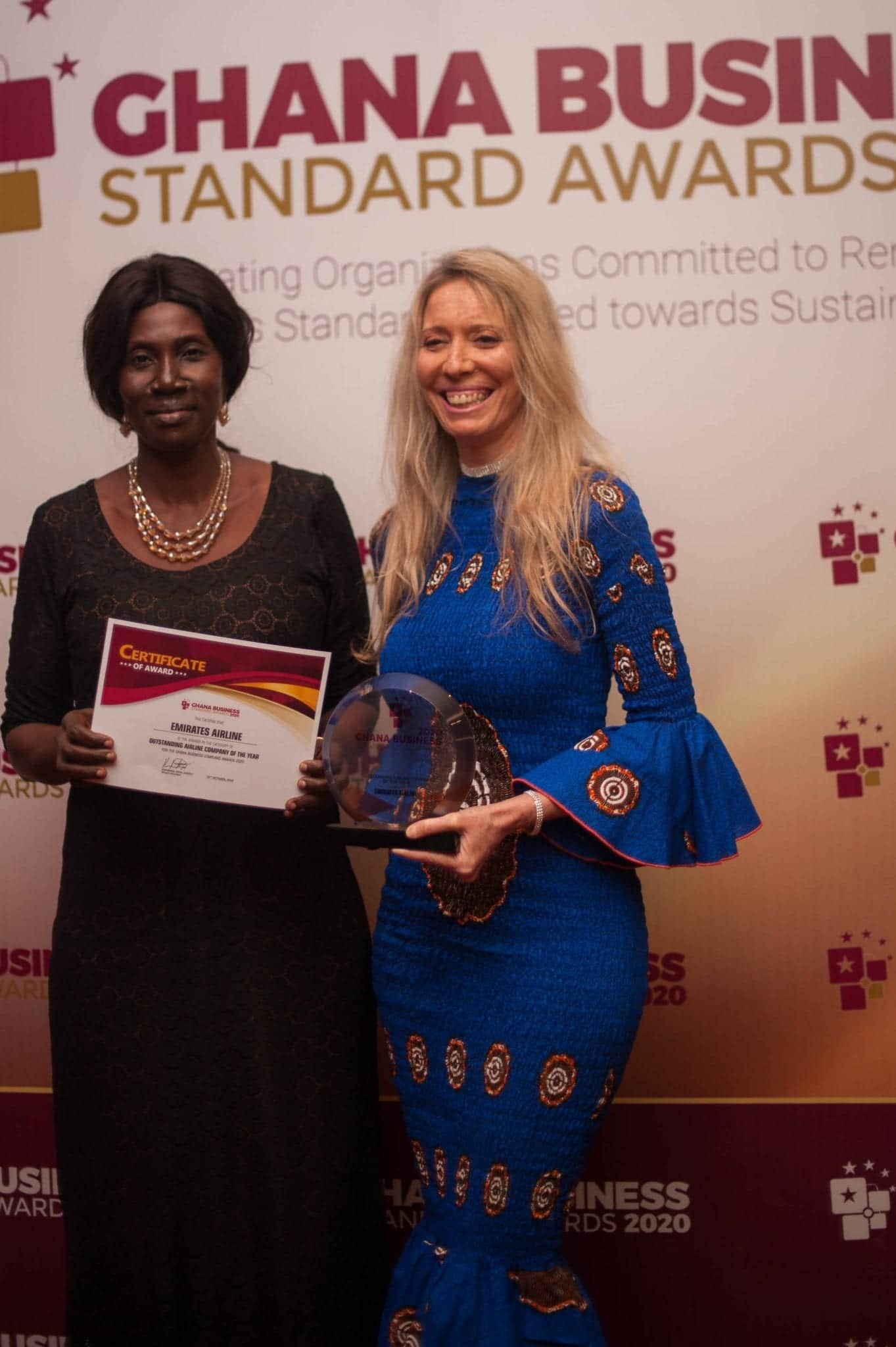 Emirates named Outstanding Airline Company of the Year at the coveted Ghana Business Standard Awards