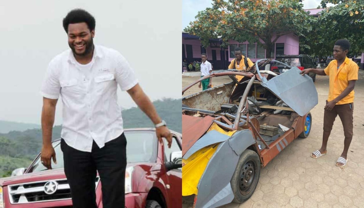 Odartey Kelvin: CEO of Kantanka to give full scholarship to the BECE graduate who built his own car