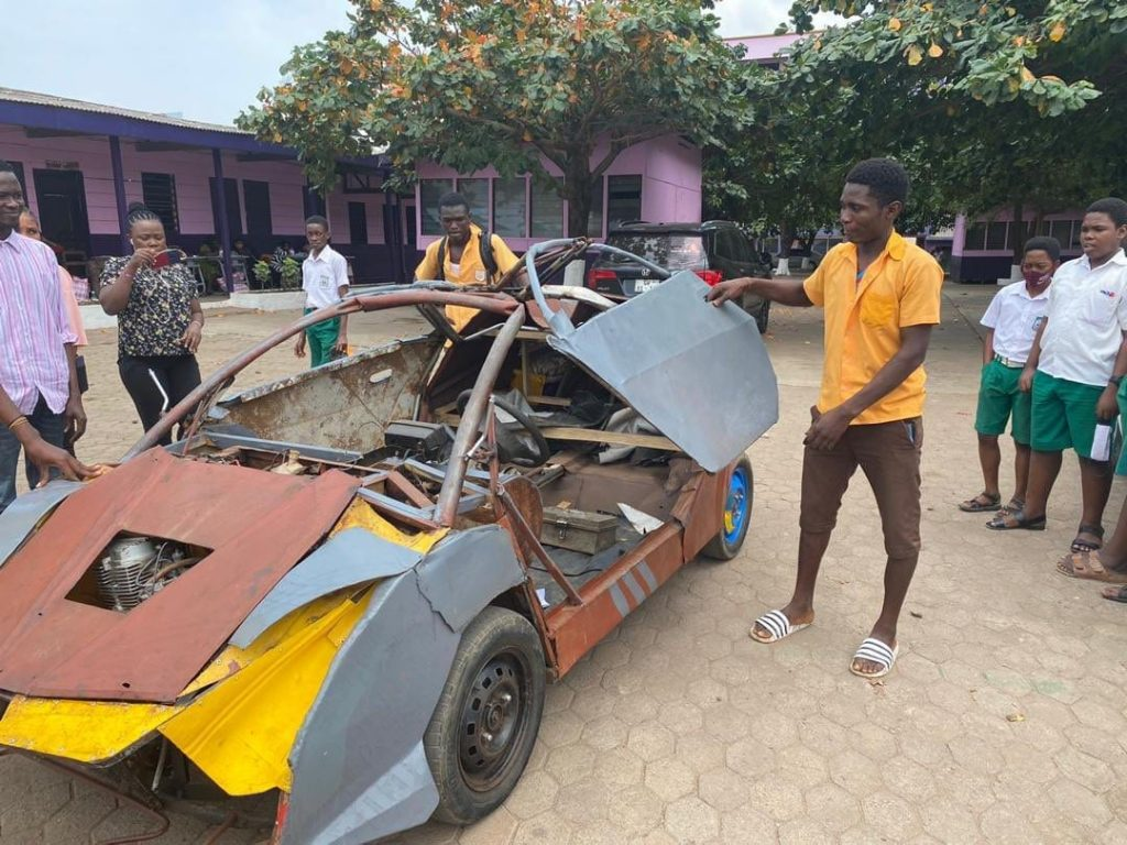 Kantanka to give full scholarship to the BECE graduate who built his own car