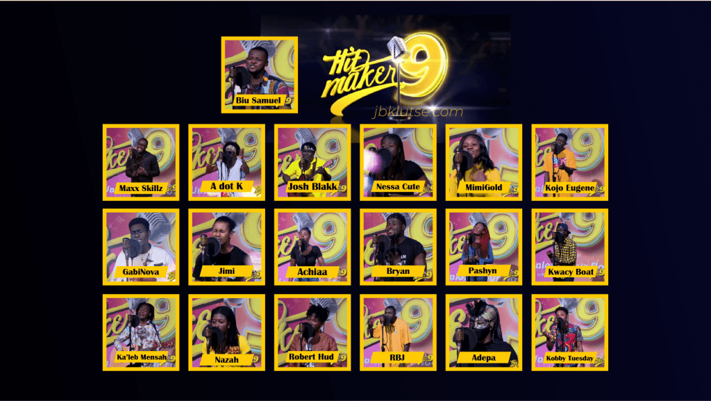 MTN Hitmaker 9 contestants