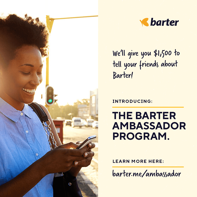 Barter by Flutterwave allows students to earn up to $1,500 through the Barter Ambassador Program