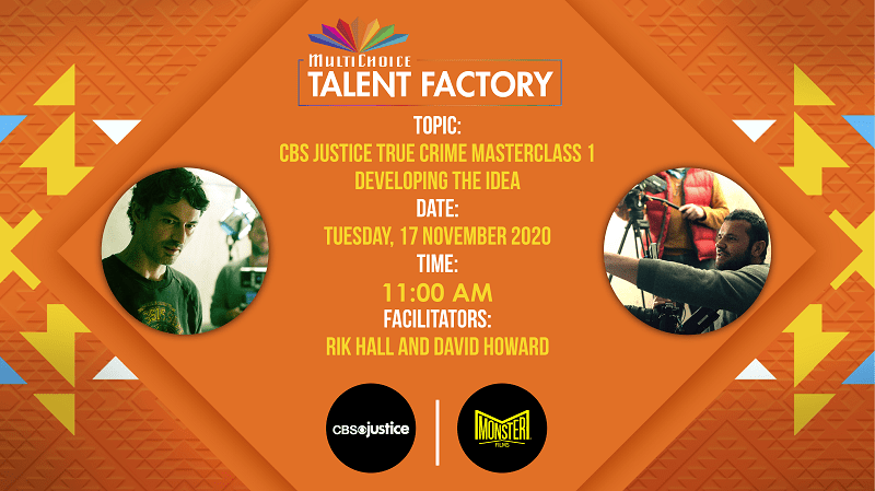 MultiChoice Talent Factory and CBS Justice announce true crime masterclass series