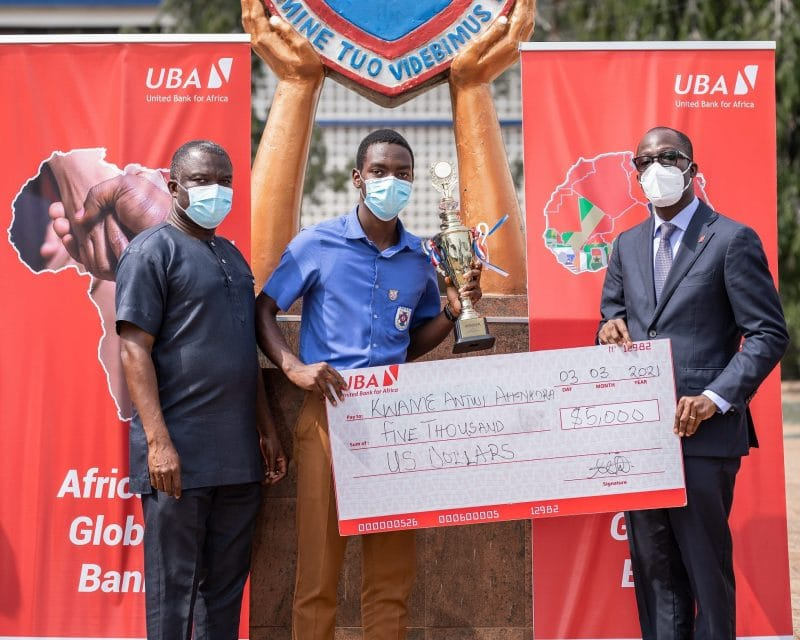 UBA Foundation presents $10,000 grant and laptops to 2020 National Essay Competition Winners