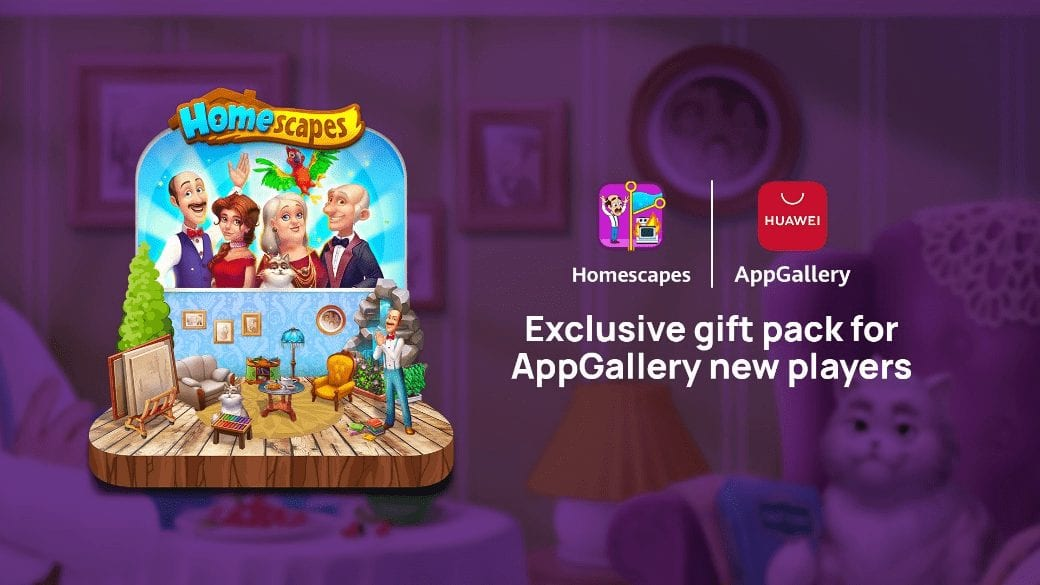 Playrix launches heartwarming puzzle game homescapes on Huawei AppGallery