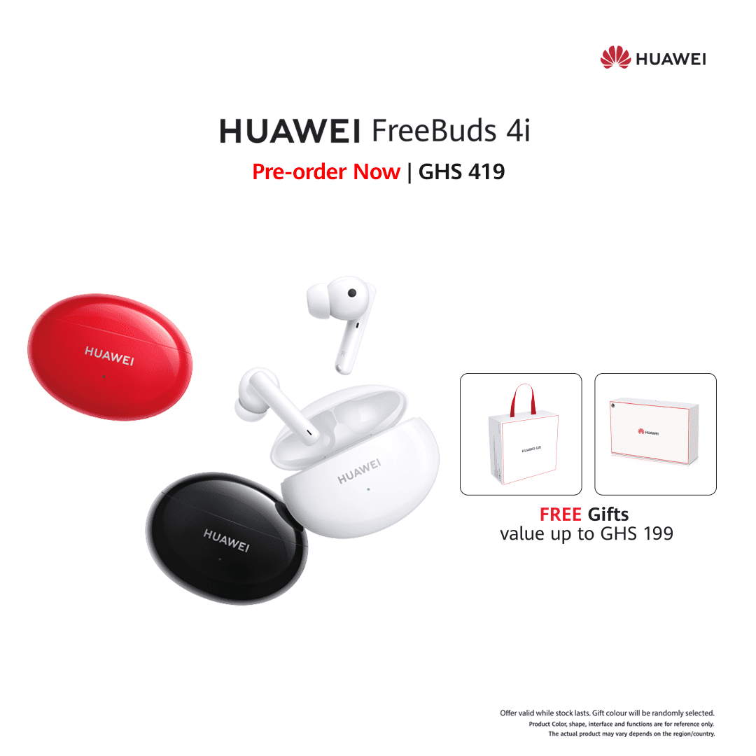 Preorder the all-new Huawei FreeBuds 4i from the 28th of May and enjoy high-quality sound with longer battery life